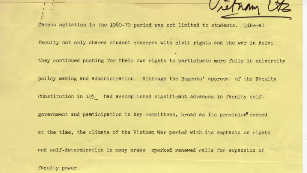 Vietnam War Activism at the University of Arizona, circa 1970