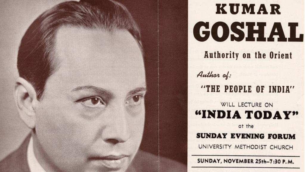Kumar Goshal Lecture Flyer, November 25