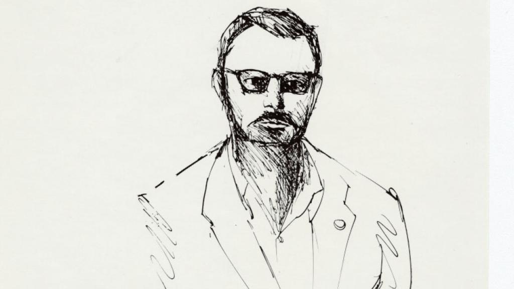Ink Portrait of Paul Blackburn, 1981