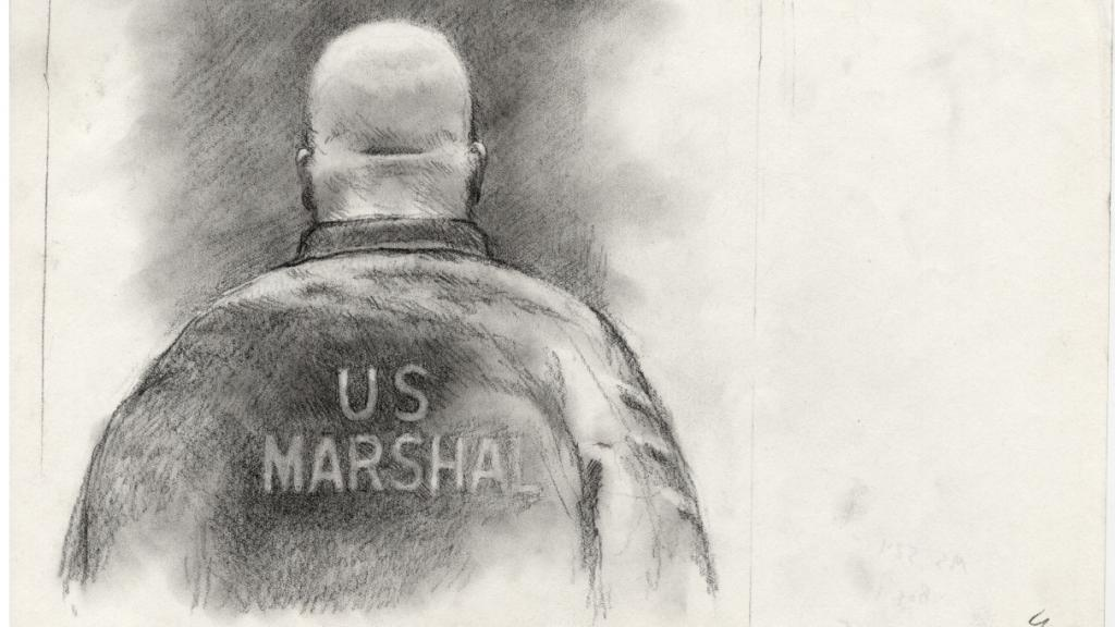 U.S. Marshal Sketch by Lawrence Gipe, circa 2012-2014