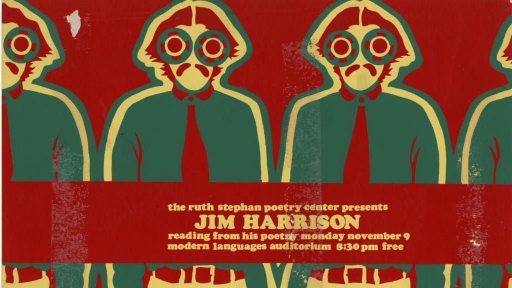 Jim Harrison Poetry Reading Broadside