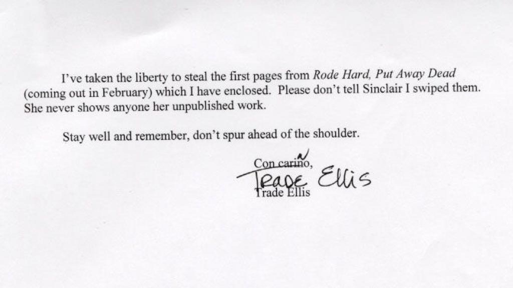 Letter by Trade Ellis, 2000