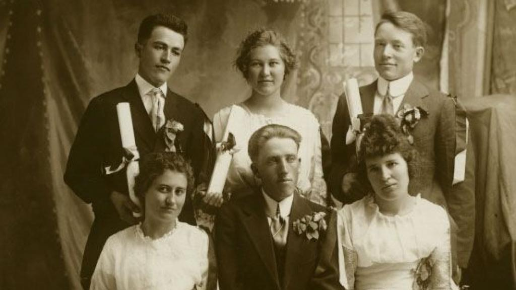 Eva Overson High School Graduation Portrait, circa 1916