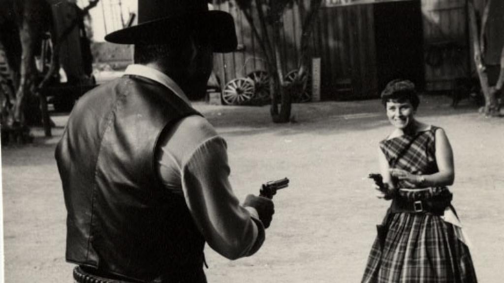 Mary Roby (nee Pavlich) and Rory Calhoun, 1958