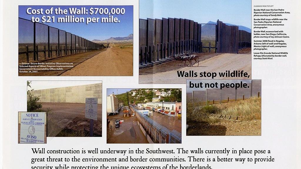 Pamphlet to Stop Construction of Border Wall near San Pedro Riparian