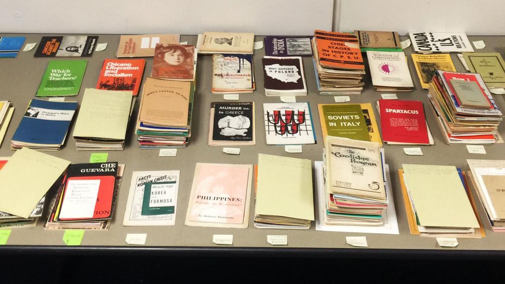 Stacks of pamphlets