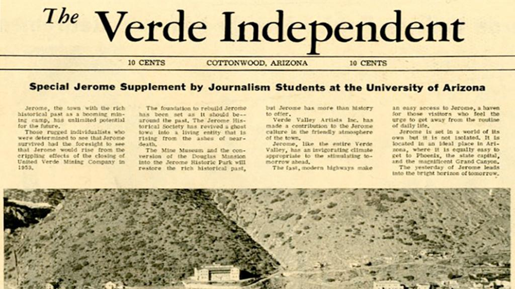 The Verde Independent newspaper cover