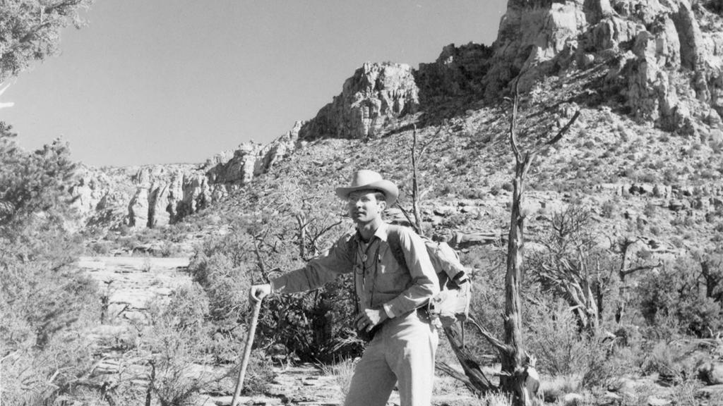 Joe Carithers on the trail to Rainbow Bridge National Monument