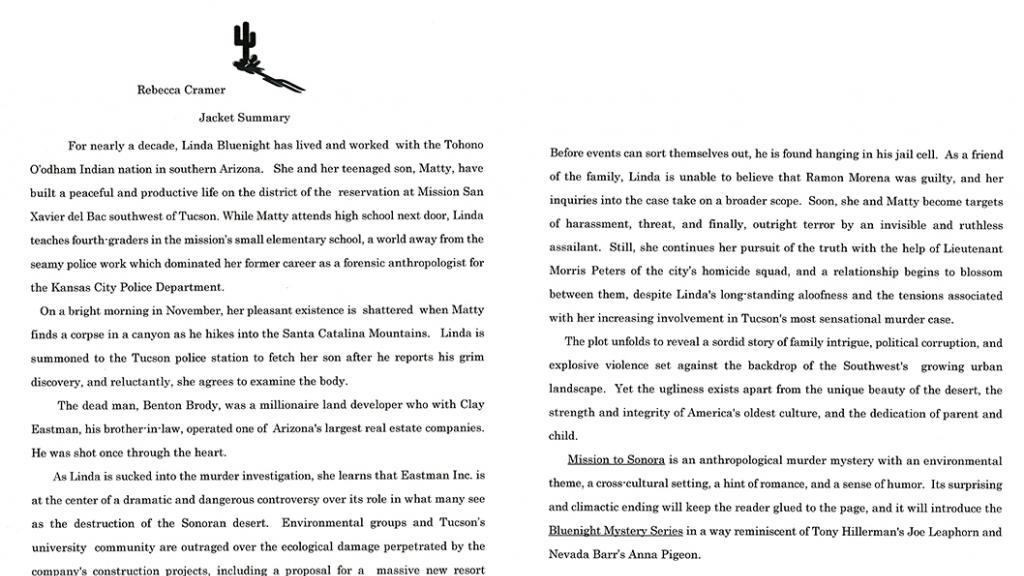 """Book: Rebecca Cramer's """"Mission to Sonora"""""""