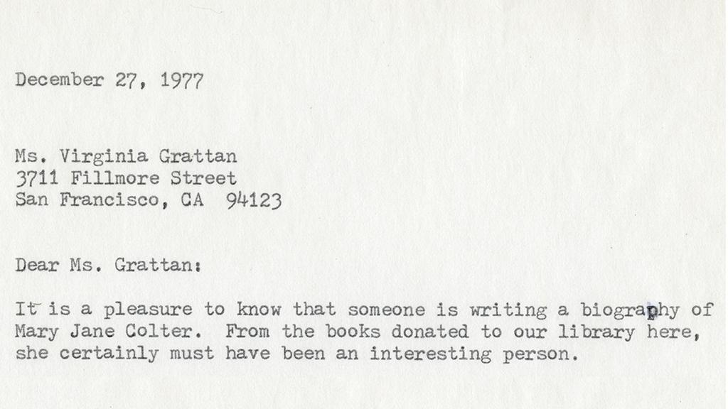 letter written on a typewriter
