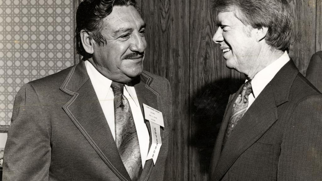 Governor Raul Castro Speaking with President Jimmy Carter, 1976