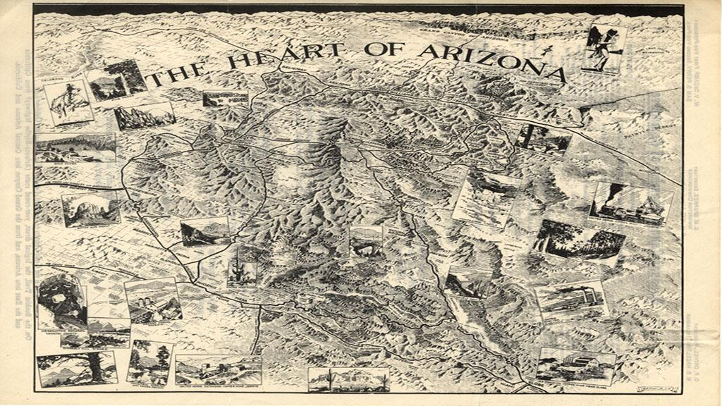 The Heart of Arizona Map, circa 1929