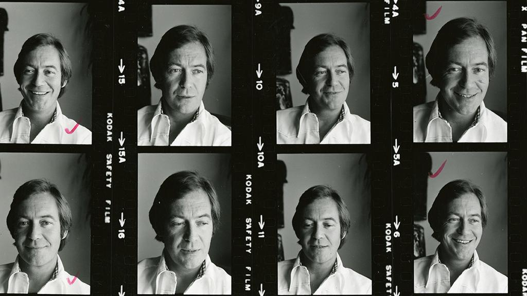 Contact sheet photos of John Weston the writer, actor, and professor.