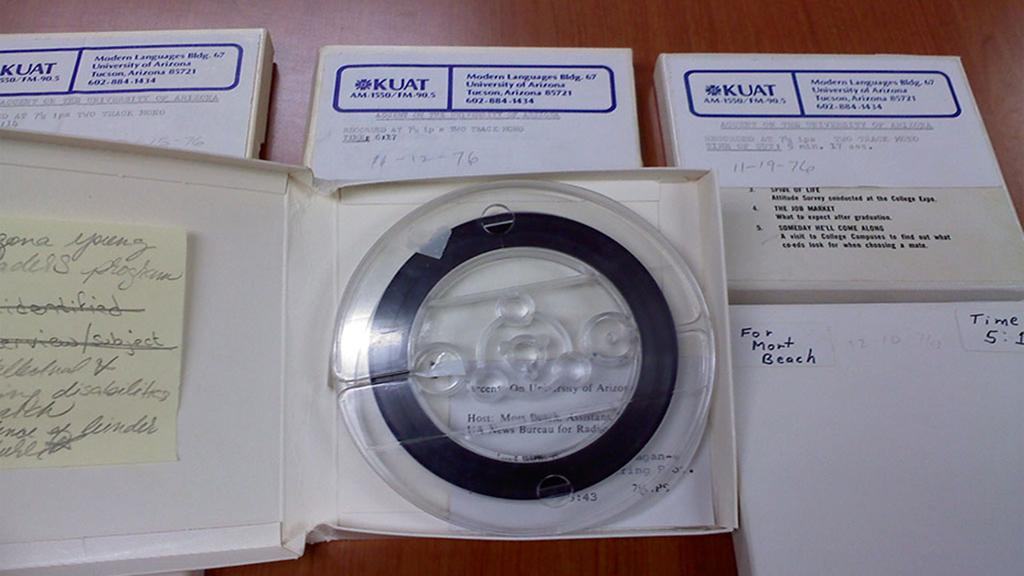 audio reel tape from collection