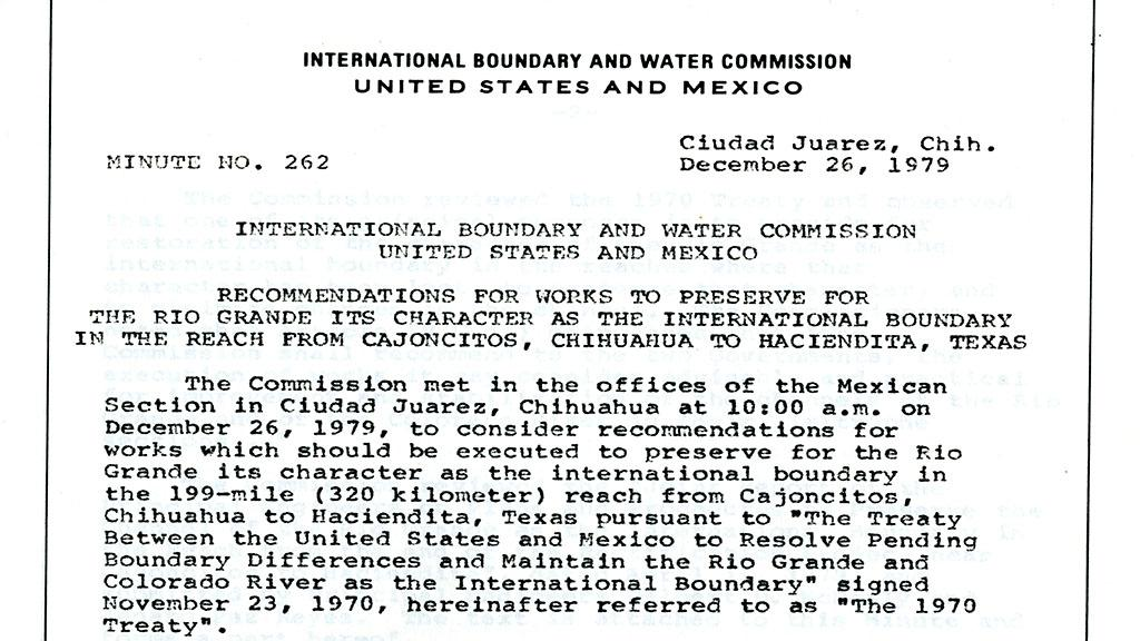 International Boundary and Water Commission document