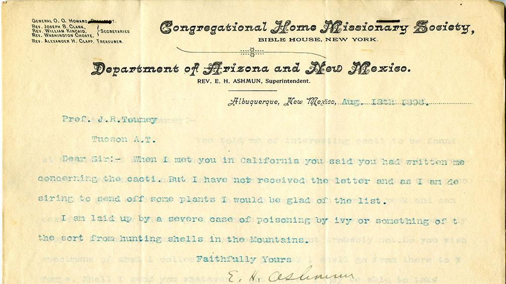 Letter from Rev. E. H. Ashmun