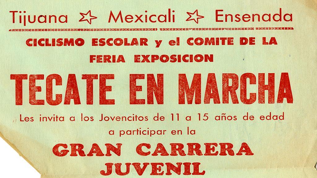 """Festival poster """"Tecate En Marcha"""", circa 1970"""