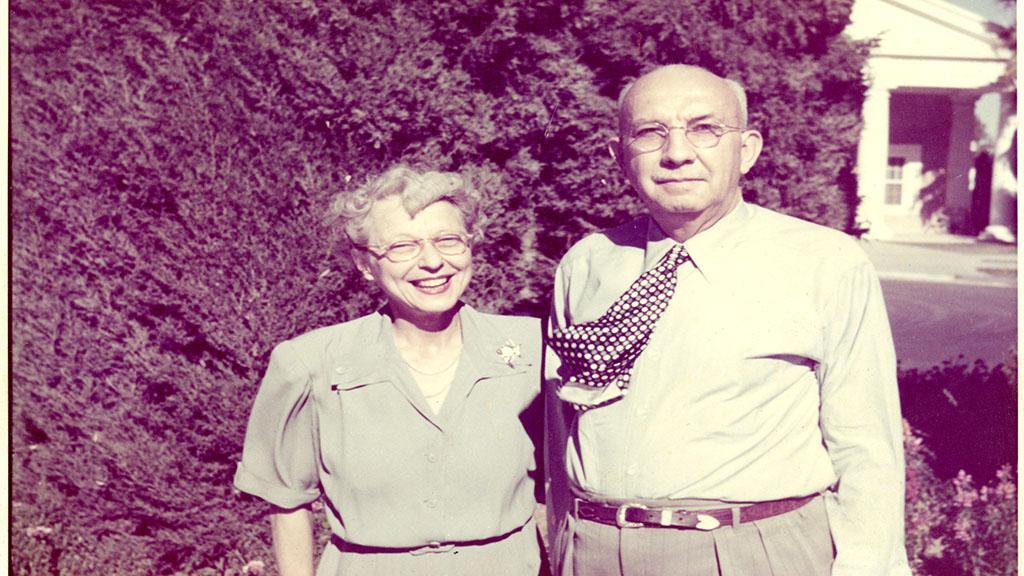 Emma and George Herrick, 1940-1950