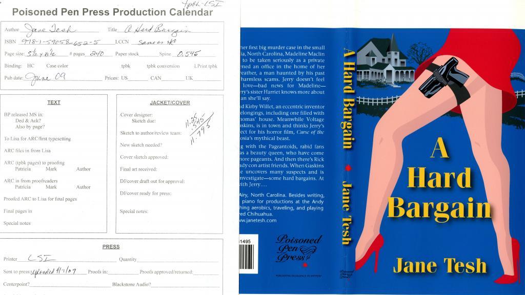 """A Hard Bargain,"" released by Poisoned Pen Press in 2009"