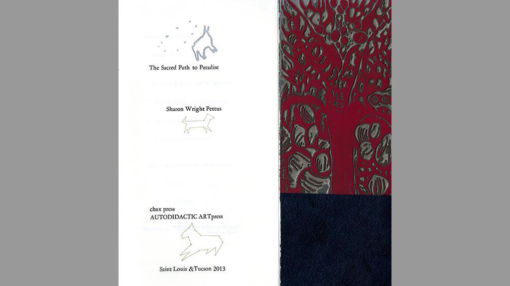 "Sharon Wright Pettus's ""The Sacred Path to Paradise"", Chax Press, 2013"