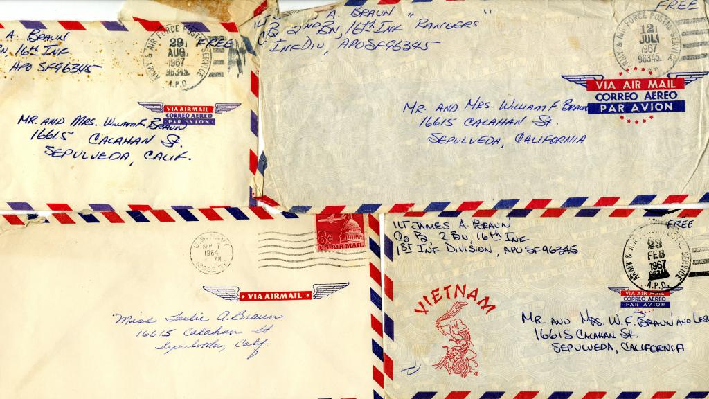 Letters sent from James F. Braun to his family