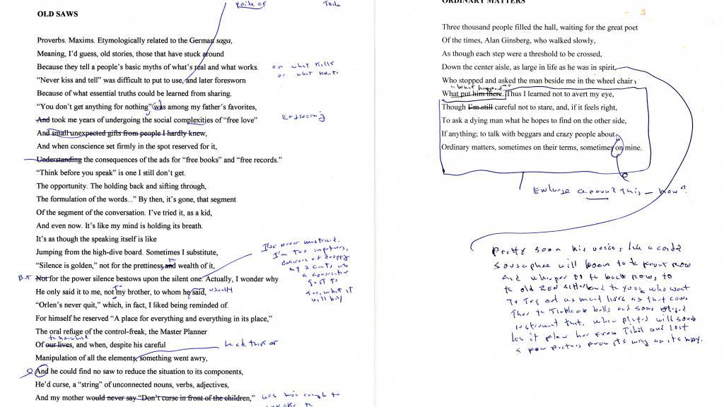 Steve Orlen poem with notes