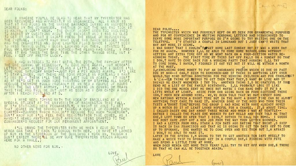 Letters from Paul Edward Jones