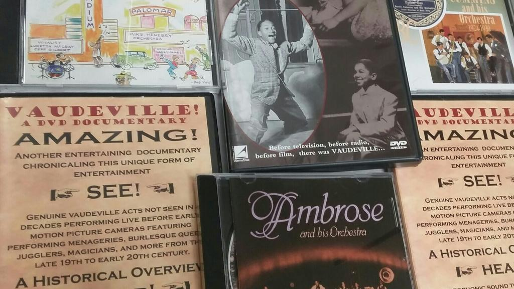 Compact discs and DVDs from the Film and Music of the Vaudeville Era
