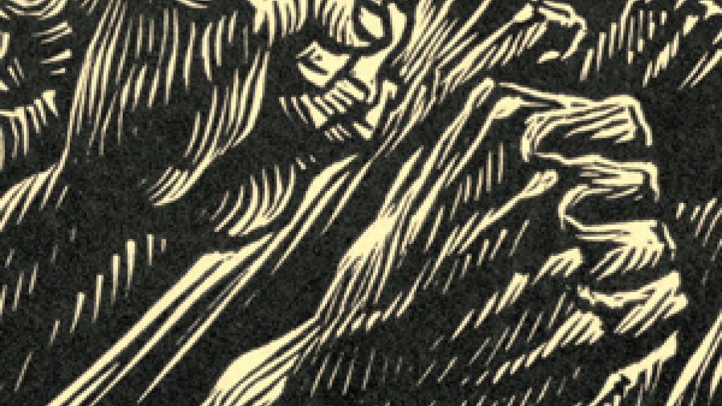 Image of Detail, Woodcut, De Francisco Moreno Capdevila, from El Coyote—Corrido De La Revolucion, Celedonio Serrano Martinez, Mexico, 1951