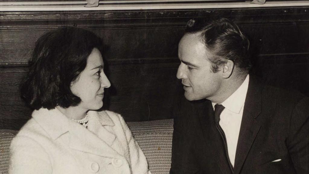 Lyn Tornabene with Marlon Brando