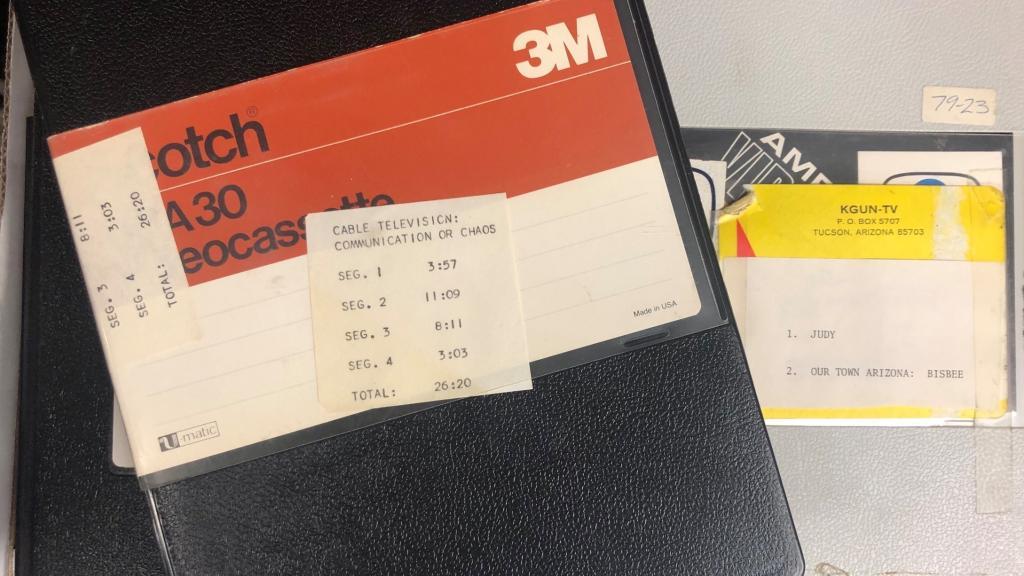 KGUN news production video cassettes