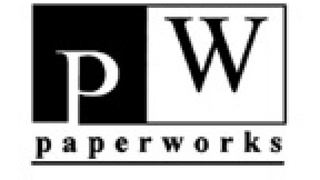 Image of PaperWorks black and white logo