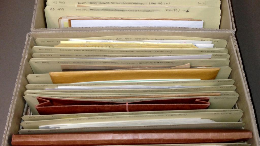 Archival files in Special Collections