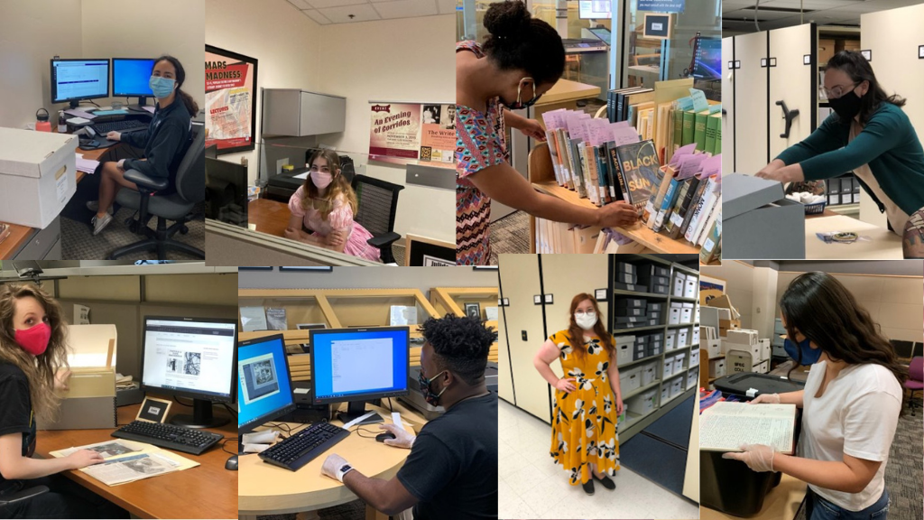 graduate assistants working in Special Collections