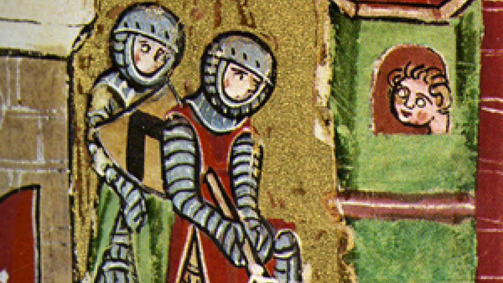 Image from a facsimile containing Wolfram von Eschenbach's poem Willehalm