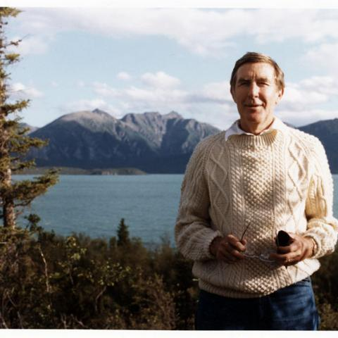 Photo of Morris K. Udall in Alaska