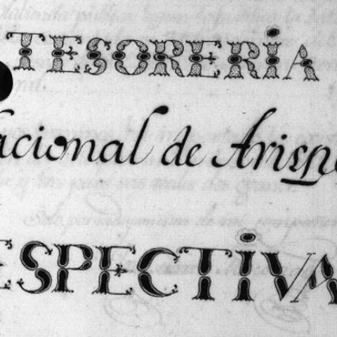 Manuscript of the Annual Report of the Tesoreria Nacional de Arispe, 1823
