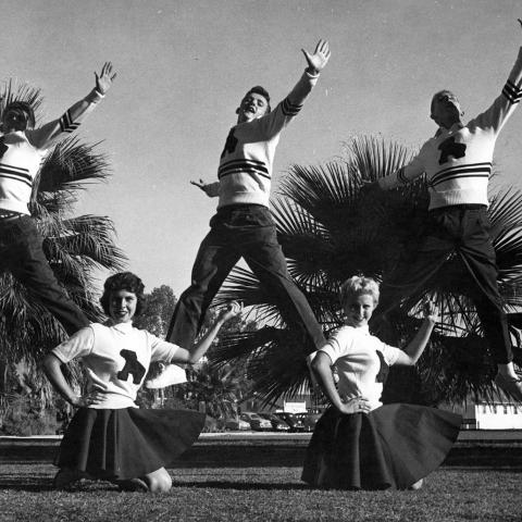 University of Arizona Cheerleaders, circa 1955