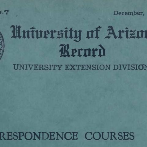 1942 Correspondence Courses, University of Arizona