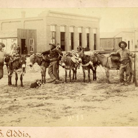 Men in Chihuahua with Donkeys