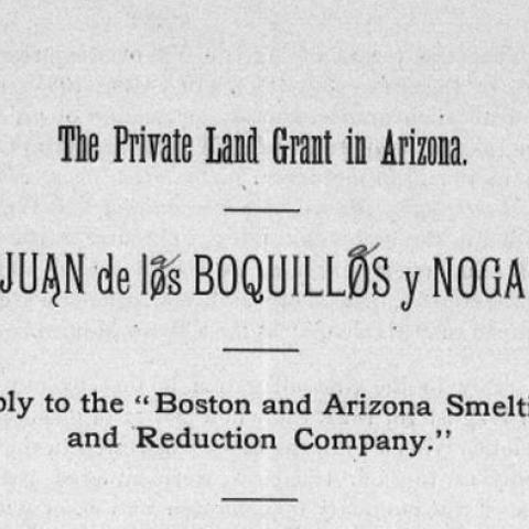 Manuscript of a case concerning land claim dispute, page 1