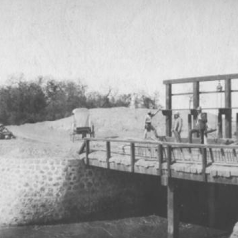 Photo of Yaqui River Dams Canals View of the Conant canal, front side