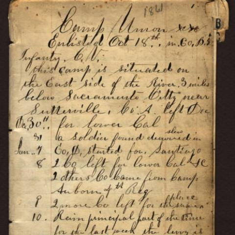 Manuscript of Alexander Grayson Bowman Diary, page 1