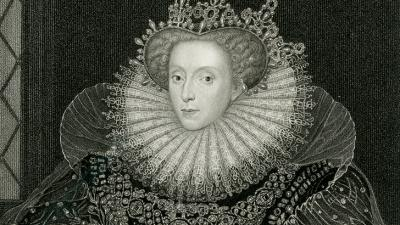 Queen Elizabeth Engraving